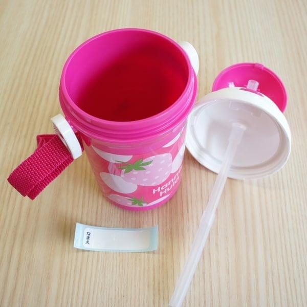 プラスチック製の水筒