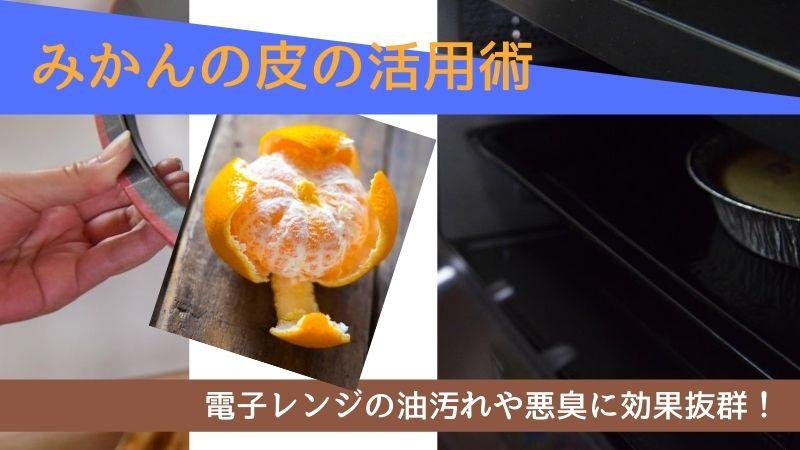 みかんの皮を使って電子レンジの油汚れと悪臭を撃退!オレンジオイルの作り方も解説