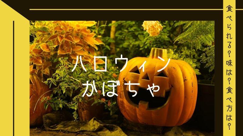 ハロウィンかぼちゃ(ジャック・オー・ランタン)は食べられる?かぼちゃの種類や味、食べ方も解説